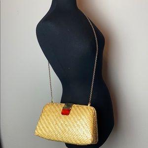 Vintage Straw Shoulder Bag